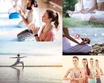 静心瑜伽人物摄影高清图片