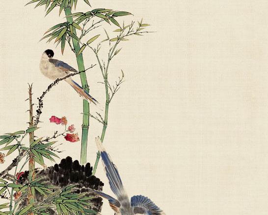 中国工笔画展示PSD素材