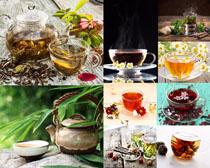茶叶茶杯展示摄影高清图片