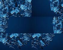 破碎玻璃片背景摄影高清图片