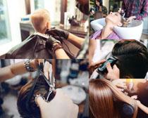 理发的欧美人物摄影高清图片