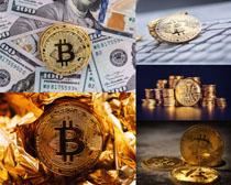 金融比特币展示摄影高清图片