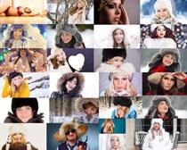 冬季服装人物拍摄高清图片