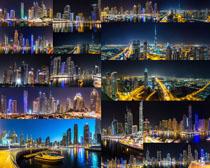 夜景美丽的城市风光摄影高清图片