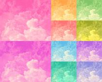彩色云层背景图高清图片