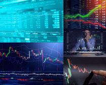 金融商务走势图摄影高清图片