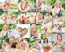 快乐欧美家庭人物摄影高清图片