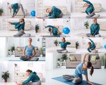 瑜伽女子写真拍摄高清图片