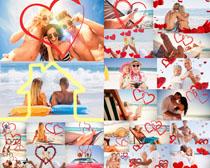 甜蜜的沙滩爱情人物摄影高清图片