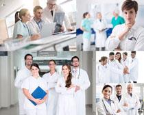 欧美职业团队医生摄影高清图片