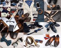 皮鞋皮带包摄影高清图片