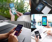 商务数码手机摄影高清图片