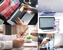 笔记本网络购物摄影高清图片