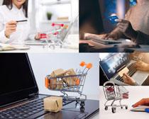 购物卡笔记本网络摄影高清图片