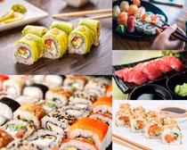 餐桌上的寿司摄影高清图片