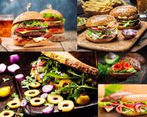 汉堡包食材摄影高清图片