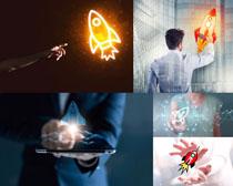 火箭速度商务男人摄影高清图片