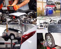 汽车发动机保养护理摄影高清图片