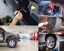 汽车轮胎保养摄影高清图片