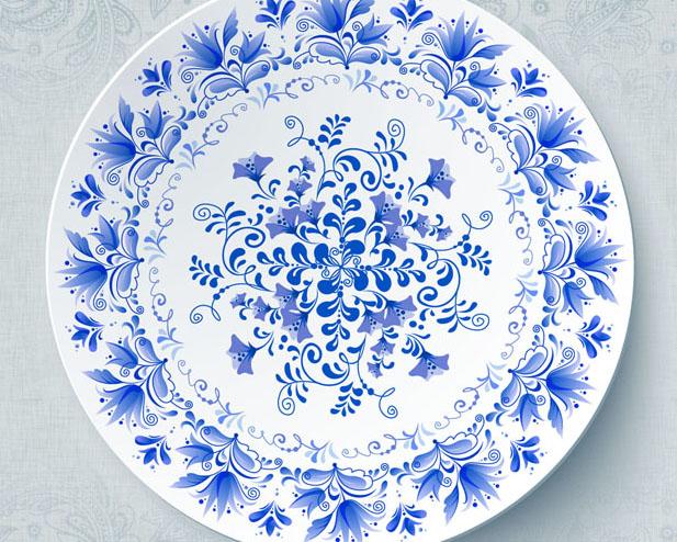 青花瓷传统中国风PSD素材