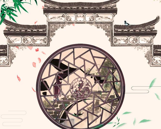 中国古典风房屋PSD素材