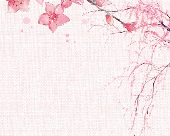 工笔画花朵背景PSD素材