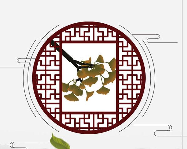 中国风窗户封面PSD素材