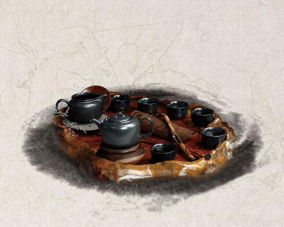 茶文化艺术PSD素材