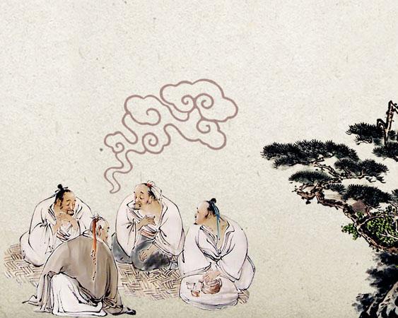 古代孔子绘画PSD素材