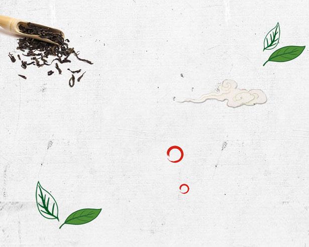 荷叶中国风绘画PSD素材