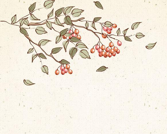 花朵仙鹤工笔画psd素材图片