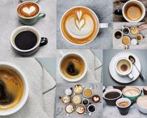 咖啡与杯子摄影高清图片