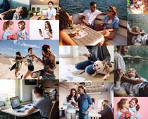 开心的外国人物摄影高清图片