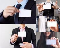 空白名片与商务男人摄影高清图片