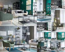 優雅的家具布置攝影高清圖片
