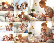 妈咪与女儿宝贝摄影高清图片