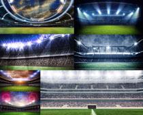 足球場地風光攝影高清圖片