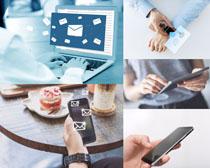 手机与商务人士摄影高清图片