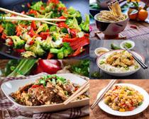 菜与饭食物摄影高清图片