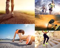 奔跑健身女人攝影高清圖片
