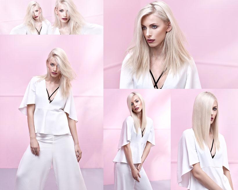 白衣服时装美女摄影高清图片