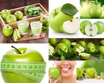 青苹果营养摄影高清图片