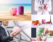商务金融存钱摄影高清图片