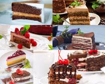 巧克力水果蛋糕摄影高清图片