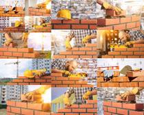 建筑工人工作摄影高清图片