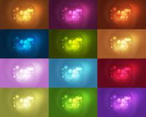 色彩背景与光点摄影高清图片