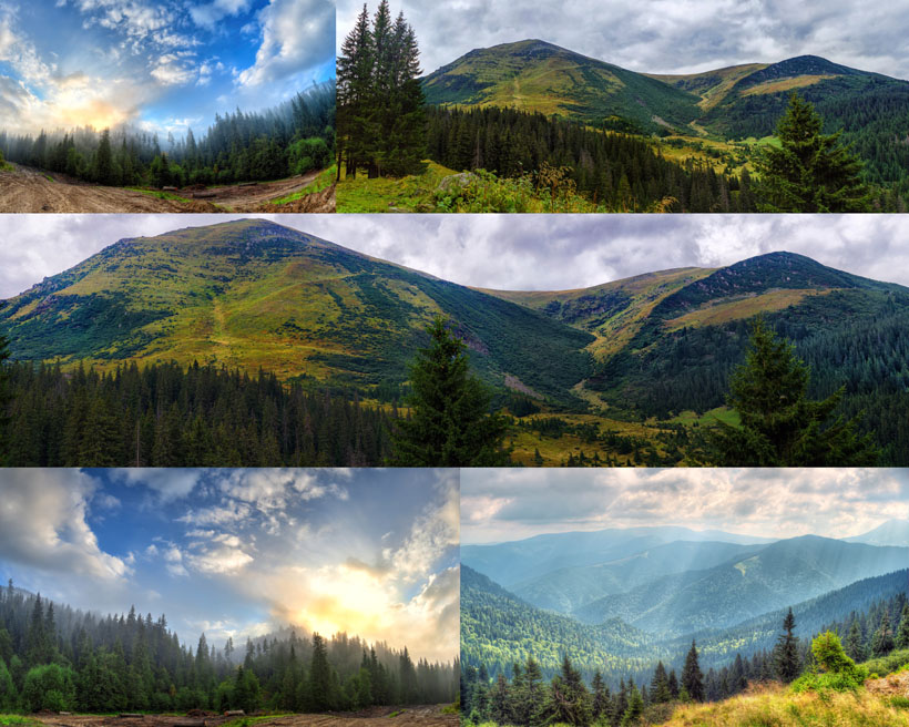 森林大山风景摄影高清图片