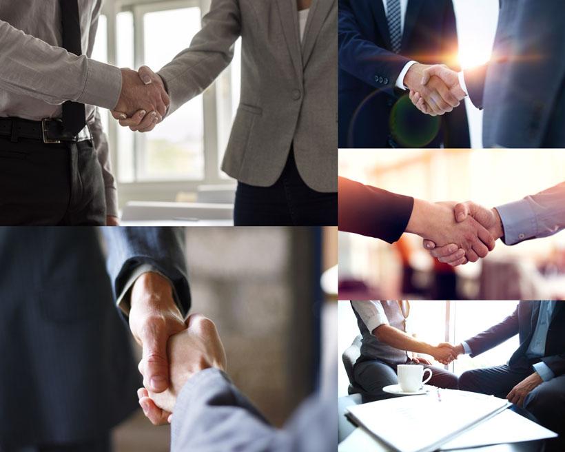 握手的商务男士摄影高清图片