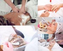 女性SPA护理保养摄影高清图片