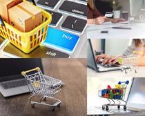 购物车数码笔记本摄影高清图片